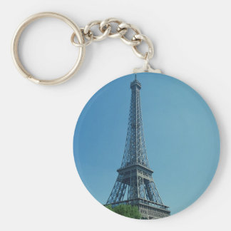 Eiffel Tower Longshot Basic Round Button Keychain