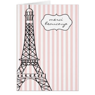 Eiffel Tower Merci Beaucoup Card