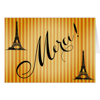 Eiffel Tower Merci French Vintage Thank You Notes