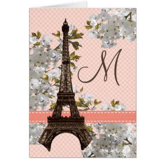 Eiffel Tower Monogrammed Note Cards