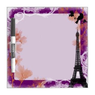 Eiffel tower mosaic artistic dry erase board