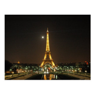 Eiffel Tower @ Night Postcard