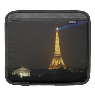 Eiffel Tower night Sleeves For iPads