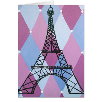 Eiffel Tower Note Card