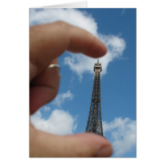 "Eiffel Tower Note Card, ""Sometimes I feel small"" Card"