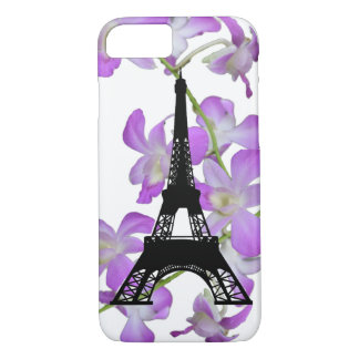 Eiffel Tower Orchids iPhone 7 Case