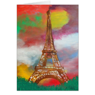 Eiffel Tower Painting Card