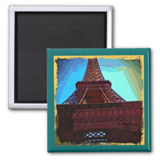 Eiffel Tower Painting Magnet
