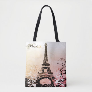 Eiffel Tower Paris All-Over-Print Tote Bag