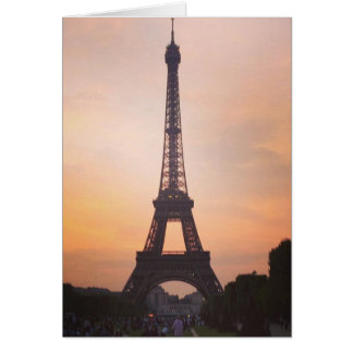 Eiffel Tower, Paris at Sunset (Blank) Greetings Card