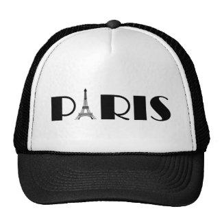 Eiffel Tower Paris Black & White Trucker Hat