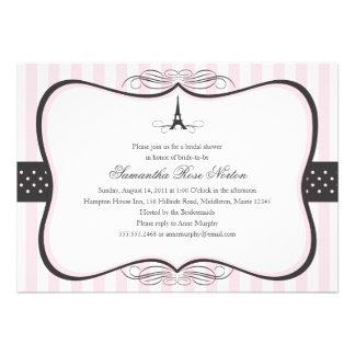 Eiffel Tower Paris Bridal Shower Announcements