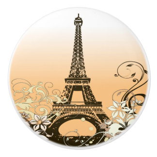 Eiffel Tower Paris Ceramic Knob