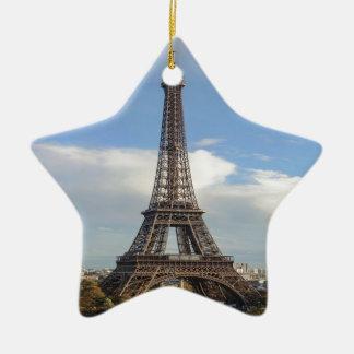 Eiffel tower Paris Ceramic Star Ornament
