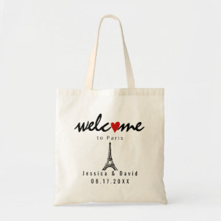 Eiffel Tower Paris destination wedding welcome Tote Bag