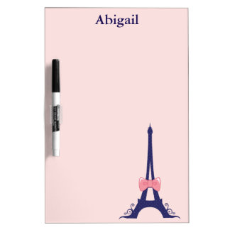 Eiffel Tower Paris Dry Erase Board