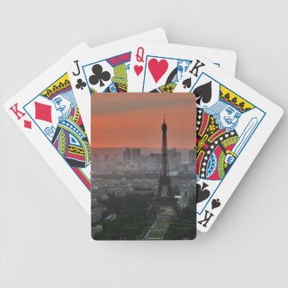 Eiffel Tower Paris Europe Travel Bicycle Playing Cards