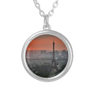 Eiffel Tower Paris Europe Travel Silver Plated Necklace