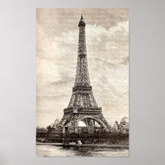 Eiffel Tower, Paris France 1889 Poster