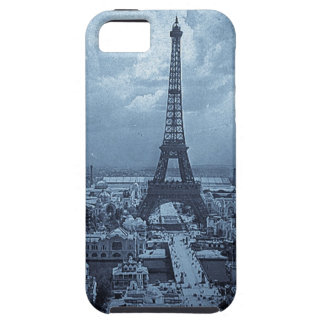 Eiffel Tower Paris France 1900 Blue Toned iPhone 5 Cases