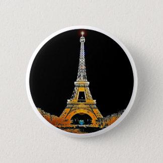 Eiffel Tower, Paris, France 2 Inch Round Button