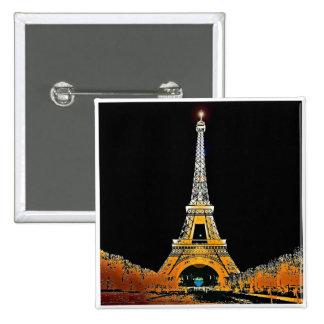 Eiffel Tower, Paris, France 2 Inch Square Button