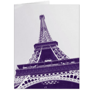 Eiffel tower, Paris, France Card