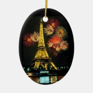 Eiffel Tower, Paris France Ceramic Ornament