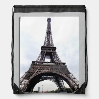 Eiffel Tower Paris France Cinch Bags