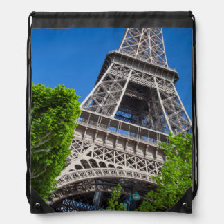 Eiffel Tower, Paris, France Drawstring Bags