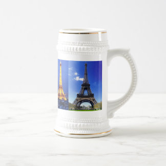 eiffel-tower-paris-france, eiffel-tower-at-nigh... beer stein