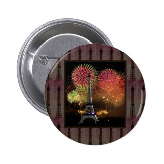 EIFFEL TOWER Paris France Landmark Photography tow 2 Inch Round Button