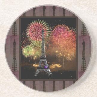 EIFFEL TOWER Paris France Landmark Photography tow Coasters