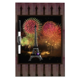 EIFFEL TOWER Paris France Landmark Photography tow Dry Erase Whiteboard