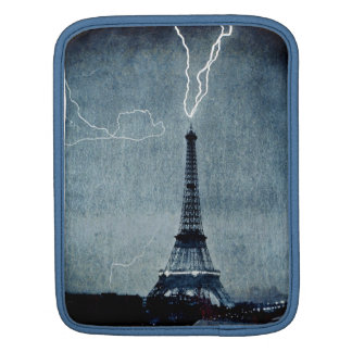 Eiffel Tower Paris France - Lightning strike 1902 iPad Sleeve