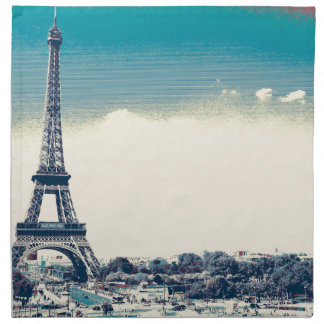 eiffel tower, paris france napkin