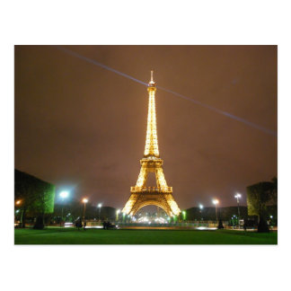 Eiffel Tower Paris France - Springtime Vacation Postcard