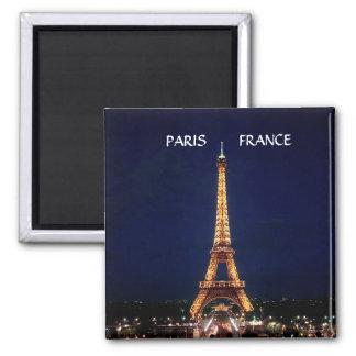 EIFFEL TOWER, PARIS   FRANCE SQUARE MAGNET