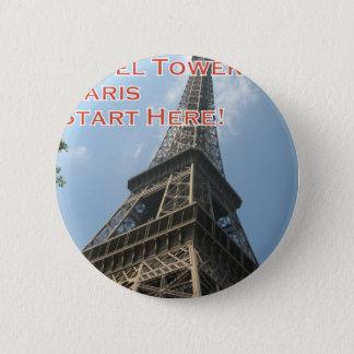 Eiffel Tower Paris France Summer 2016 French 2 Inch Round Button