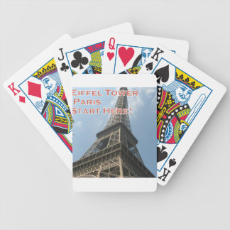 Eiffel Tower Paris France Summer 2016 French Bicycle Playing Cards