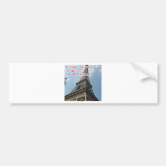 Eiffel Tower Paris France Summer 2016 French Bumper Sticker