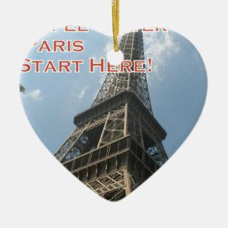 Eiffel Tower Paris France Summer 2016 French Ceramic Ornament