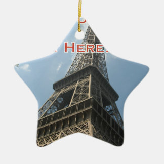 Eiffel Tower Paris France Summer 2016 French Ceramic Star Ornament
