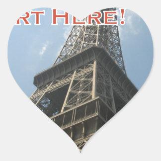 Eiffel Tower Paris France Summer 2016 French Heart Sticker