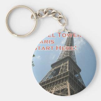 Eiffel Tower Paris France Summer 2016 French Keychain