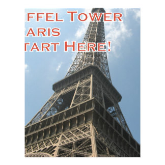 Eiffel Tower Paris France Summer 2016 French Letterhead