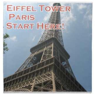 Eiffel Tower Paris France Summer 2016 French Napkin