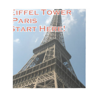 Eiffel Tower Paris France Summer 2016 French Notepad