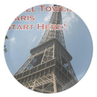 Eiffel Tower Paris France Summer 2016 French Plate