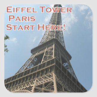 Eiffel Tower Paris France Summer 2016 French Square Sticker
